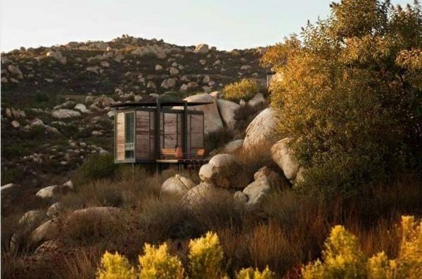 mini bungalow holz ausgefallene hotels gracia studio Endemico Resguardo Silvestre