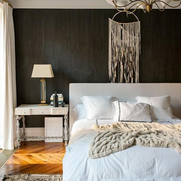 schlafzimmer design wand gemtliches zuhause schlafzimmer