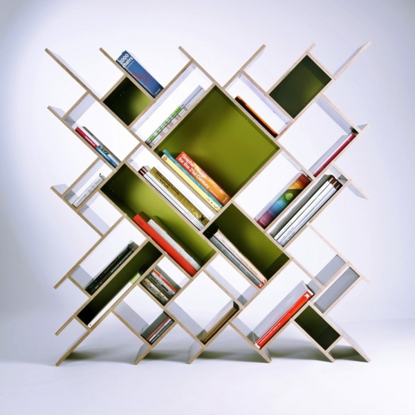 kunstvolle wandregal design art abstrakt
