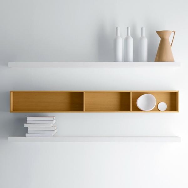 Wandregal küche modern  Wandregal Design bringt mehr Leben zu Ihrem modernen Zuhause