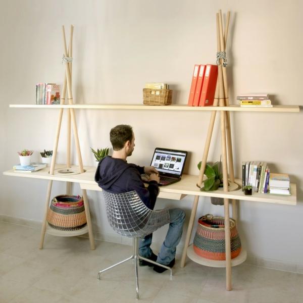 zeitgenössisch wandregal design art schreibtisch büro