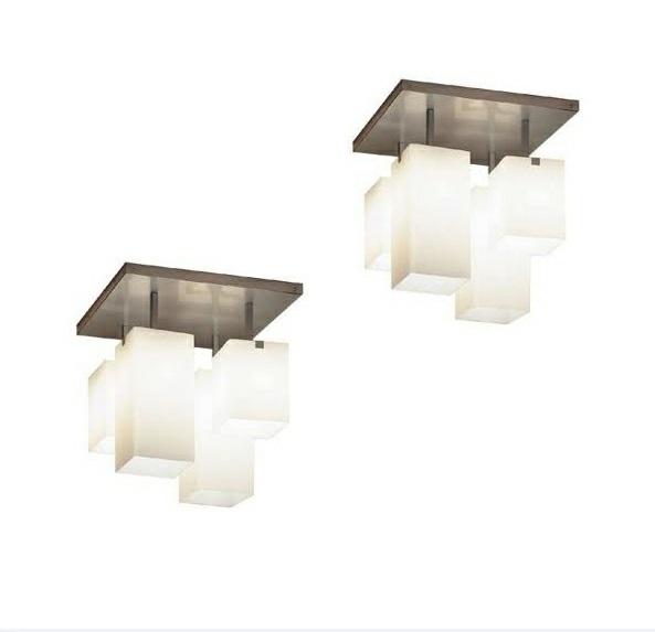 moderne Deckenleuchten design eingebaut weiß lampenschirm