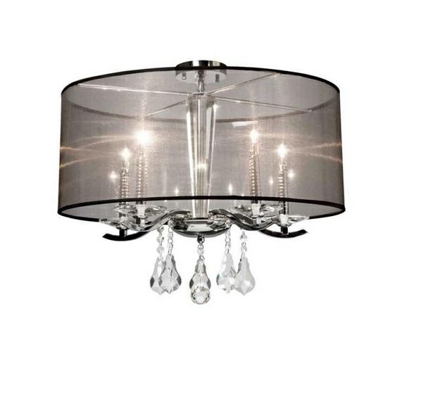 Deckenleuchten design moderne lampenschirm transparent