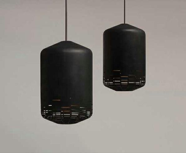 Deckenleuchten design schwarz leder moderne