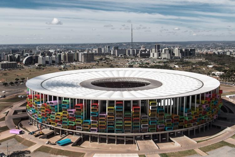 moderne architektur fußballstadion casa futebol weltmeisterschaft brasilien