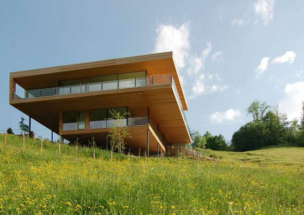 Moderne architektur in der pr rie h user mit for Haus design moderne architektur