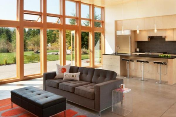 moderne architektur washington modernes prärienhaus wohnbereich moderne küche