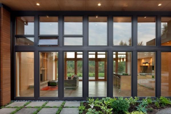 moderne architektur washington yelm modernes haus wohnbereich küche