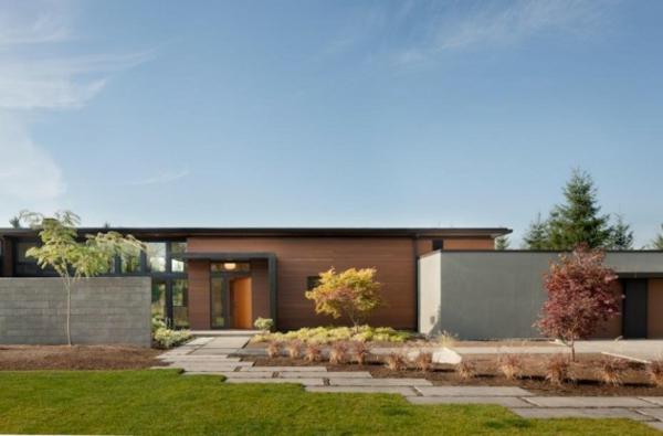 moderne architektur washington yelm prärie modernes haus gartengestaltung