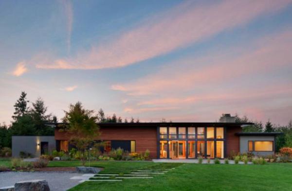 moderne architektur washington yelm prärie modernes haus