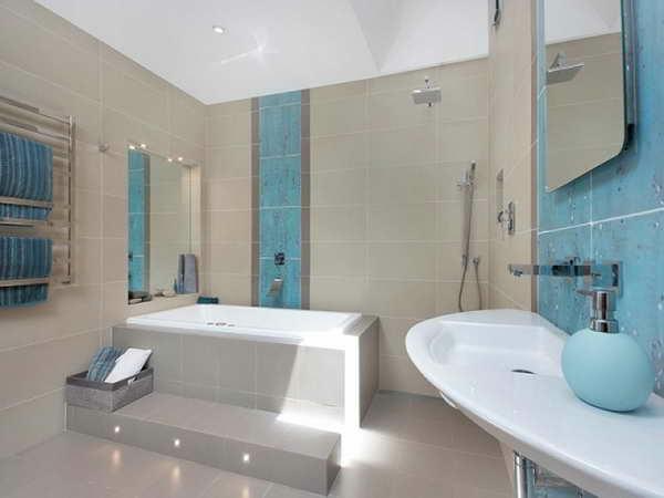 moderne badezimmer badewanne fliesen einbauwanne badmöbel
