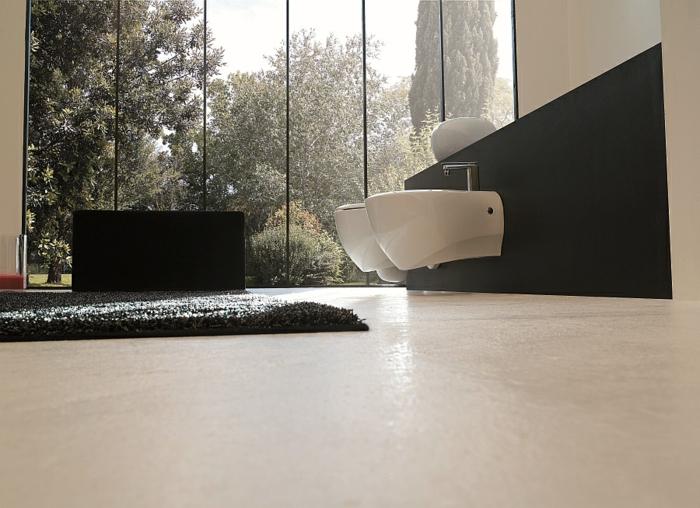 moderne badezimmer einrichten wandgestaltung bidet sanitäranlagen