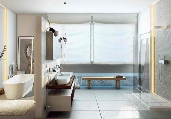 Chestha.com | Badewannen Abtrennung Design | {Modernes bad mit eckbadewanne und dusche 87}