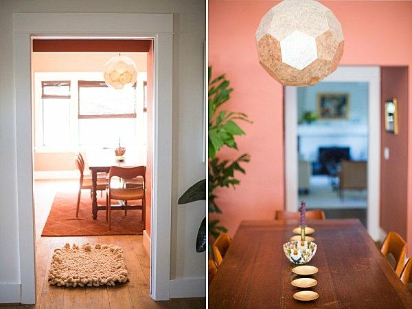 moderne dekoartikel orange wand farben