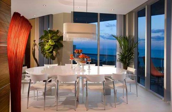 moderne esszimmer esstisch mit stühlen komplett weiß kronleuchter