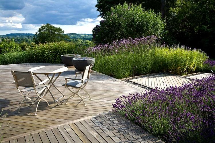 moderne gartengestaltung anthony paul terrassengestaltung holzmöbel