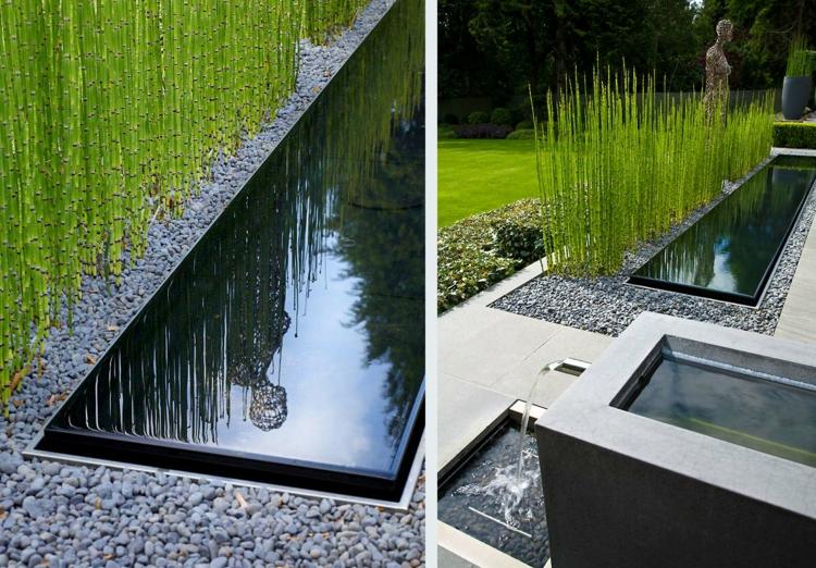 Wie sieht die moderne gartengestaltung heute aus for Bassin de jardin moderne