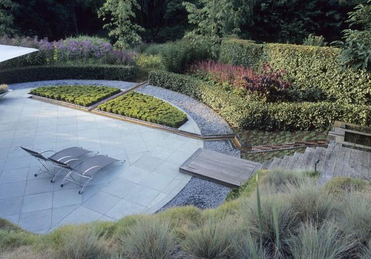 moderne gartengestaltung landschaftsarchitekt anthony paul terrassengestaltung