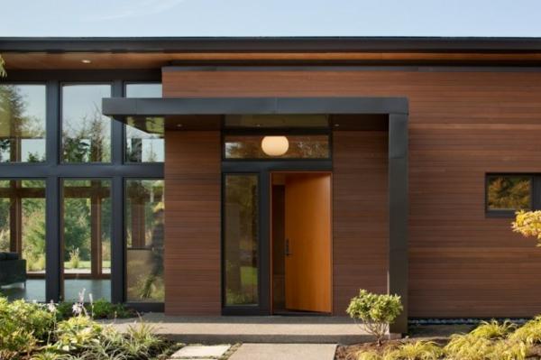 moderne haus nachhaltige architektur einganggsbereich vorgarten gestalten