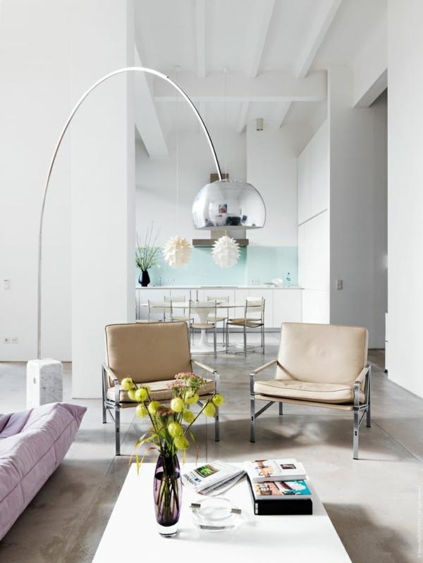 moderne inneneinrichtung farbgestaltung pastellfarben küchenrückwand mintgrün