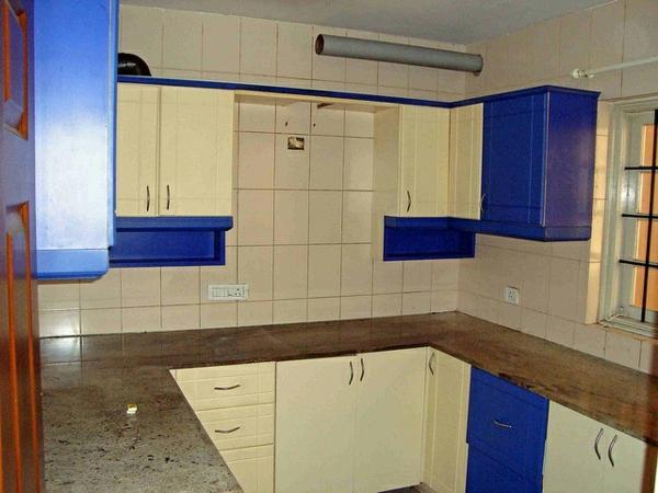 modulküchen designideen küche blau weiß