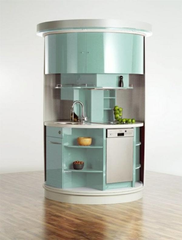modul küchenmöbel designideen küche grün ovalform