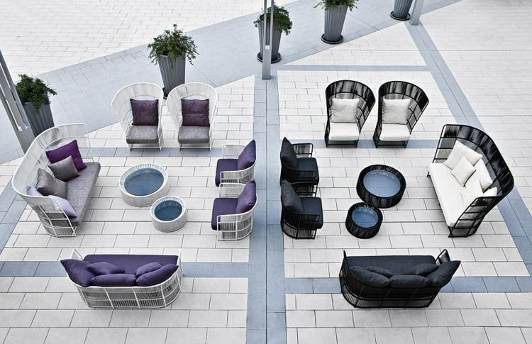 moderne nachhaltige gartenmöbel outdoor lounge möbel tibaldo kolektion designer