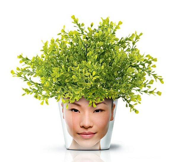 moderne pflanzgefäße designer ideen good blumentopf mit gesicht