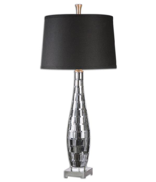 moderne tischleuchten lampendesign schwarz silber