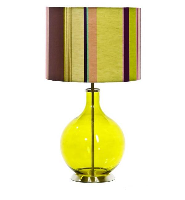 moderne tischleuchten vertikale streifenmuster bunt design lampen und leuchten