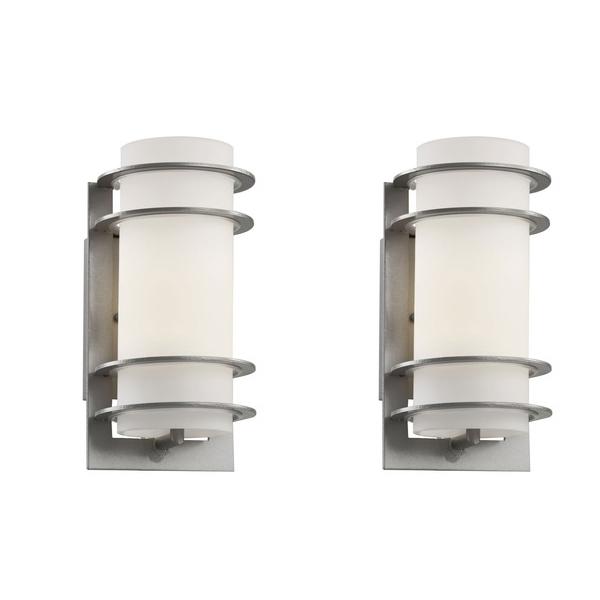 moderne wandleuchten edelstahl aussen rund gartenbeleuchtung