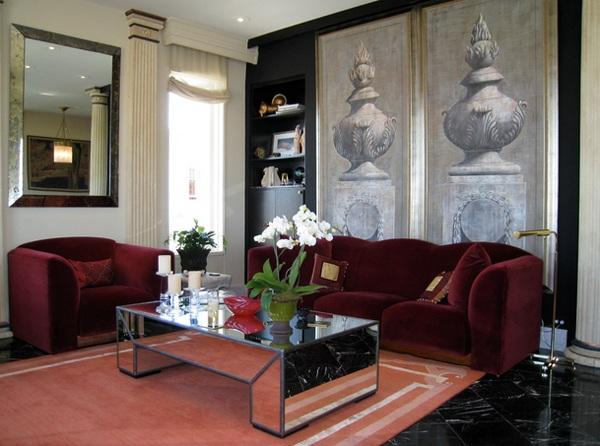 moderne wohnzimmermöbel couchtisch spiegelfläche