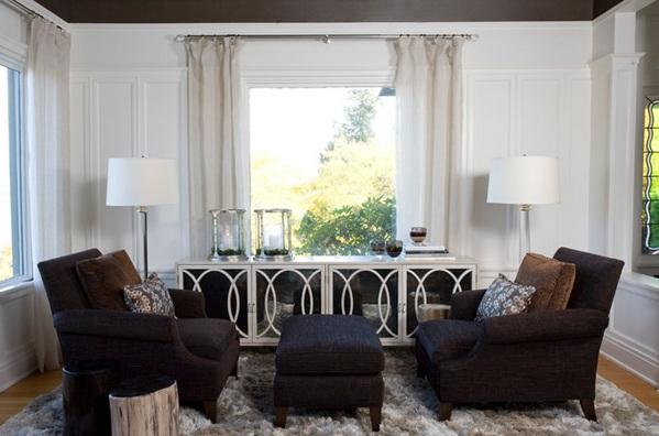 moderne wohnzimmermöbel spiegelfläche anrichte spiegeltüren teppichboden