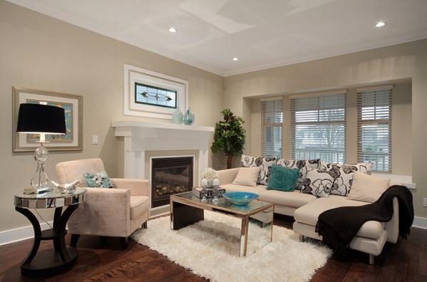 moderne wohnzimmermöbel spiegelfläche beistelltisch rund