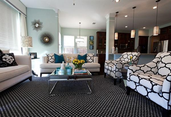 moderne wohnzimmermöbel spiegelfläche couchtisch wandspiegel