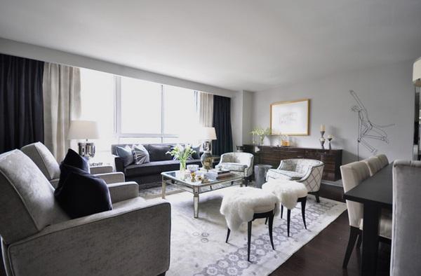 Moderne Wohnzimmerm 246 Bel Mit Spiegelfl 228 Che