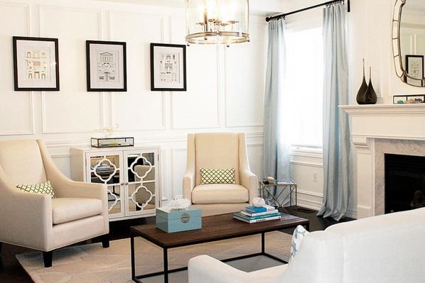 moderne wohnzimmermöbel wandspiegel anrichte spiegeltüren spiegelfläche