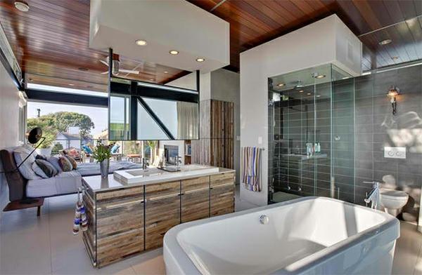Modernes Badezimmer - Gestaltungsideen Mit Designer Badspiegel