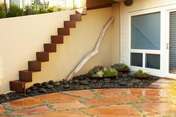 gartendesign pflanzenlexikon  steinboden treppe