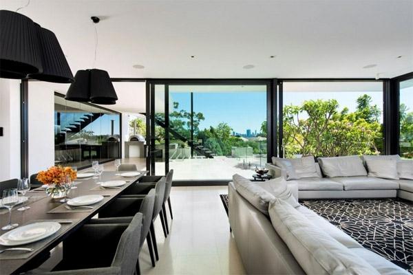 Modernes Haus Australien Residenz Wohnzimmer
