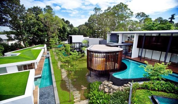 modernes haus k2ld nachhaltige architektur dachbegrünung gartengestaltung ideen
