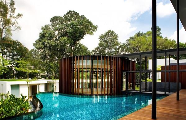 modernes haus k2ld nachhaltige architektur gartengestaltung ideen garten pool