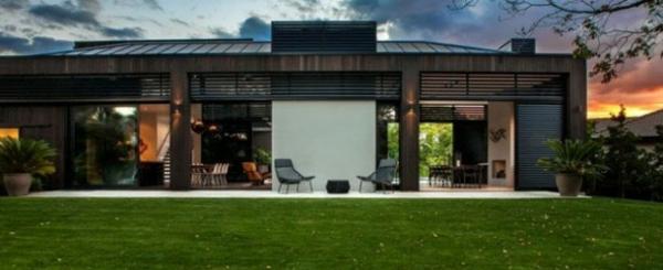 modernes haus neuseeland architektenhaus außenbereich gestalten