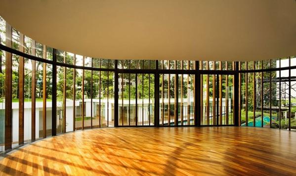 modernes haus singapur nachhaltige architektur holzboden umweltfreundliches design