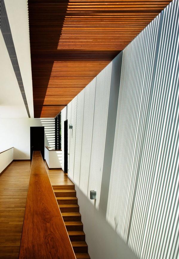 modernes haus singapur nachhaltige architektur trepenhaus holz