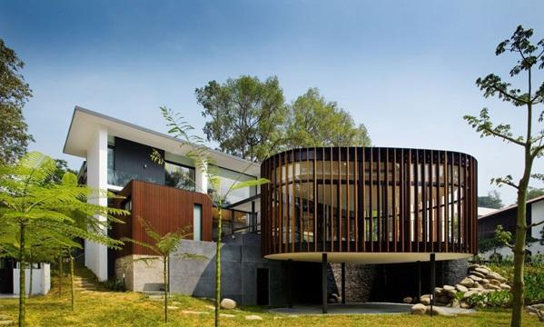 modernes haus singapur screen haus k2ld architekten terrasse außenbereich nachhaltige architektur