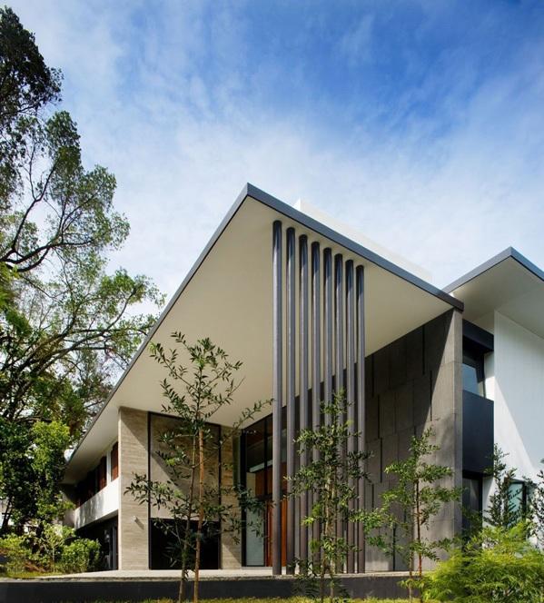 modernes haus singapur screen haus terrasse außenbereich nachhaltige architektur