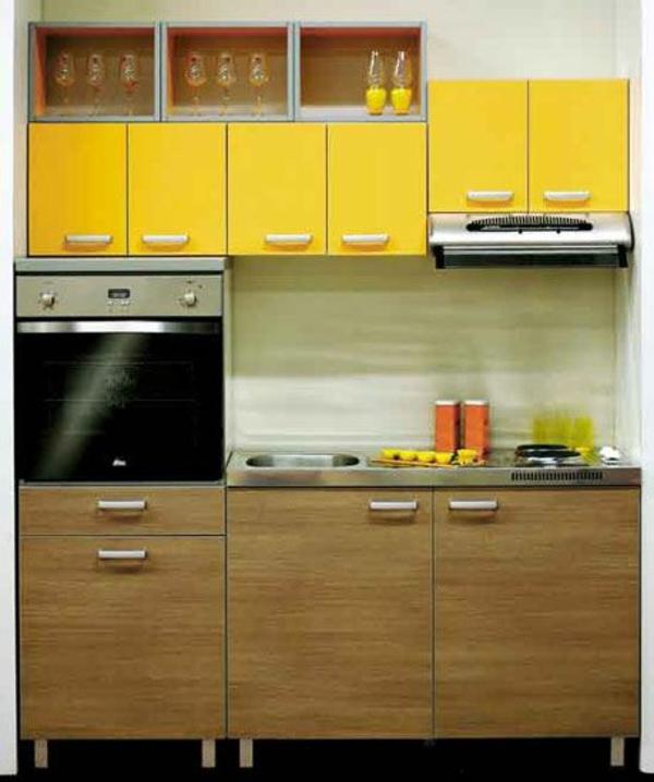 modulküchen designideen küche gelbe akzente