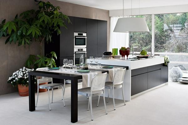 Modulküchen - zeitgenössische Designlösungen | {Küchen mit esstisch 25}