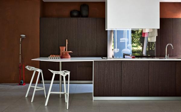 modulküchen küchen design kontrastierende farben bar